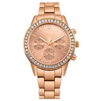Missguided Ladies' Rose Gold Tone Multi-Dial Bracelet Watch - Product number 1097830