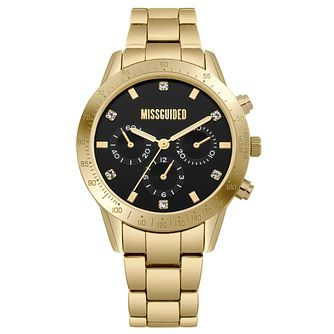 Missguided Ladies' Multi-Dial Gold Tone Bracelet Watch - Product number 1097881
