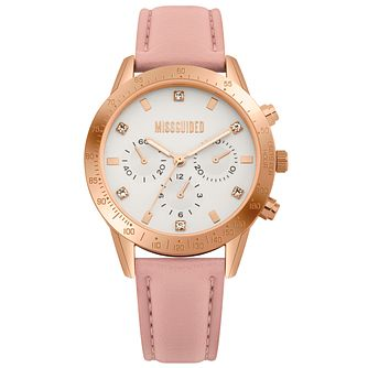 Missguided Ladies' Multi-Dial Pink PU Strap Watch - Product number 1097911