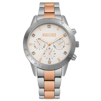 Missguided Ladies' Multi-Dial Two-Tone Bracelet Watch - Product number 1097938