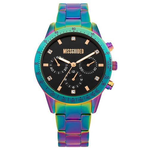 Missguided Ladies' Multi-Dial Iridescent Bracelet Watch - Product number 1097946