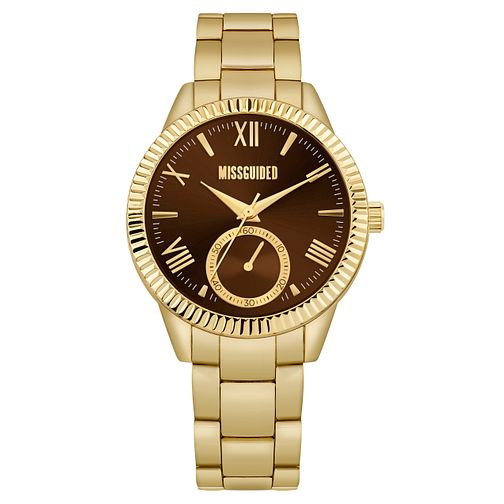 Missguided Ladies' Gold Tone Bracelet Watch - Product number 1098012