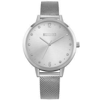 Missguided Ladies' Silver Tone Mesh Bracelet Watch - Product number 1098071