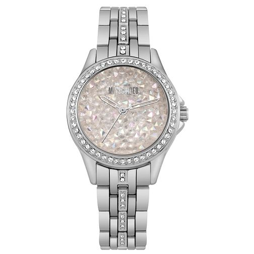 Missguided Ladies' Crystal Silver Tone Bracelet Watch - Product number 1098152