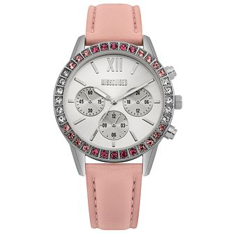 Missguided Ladies' Pink PU Strap Watch - Product number 1098187