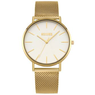 Missguided Ladies' Gold Tone Mesh Bracelet Watch - Product number 1098276