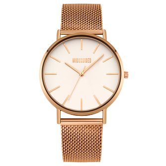 Missguided Ladies' Rose Gold Tone Mesh Bracelet Watch - Product number 1098284