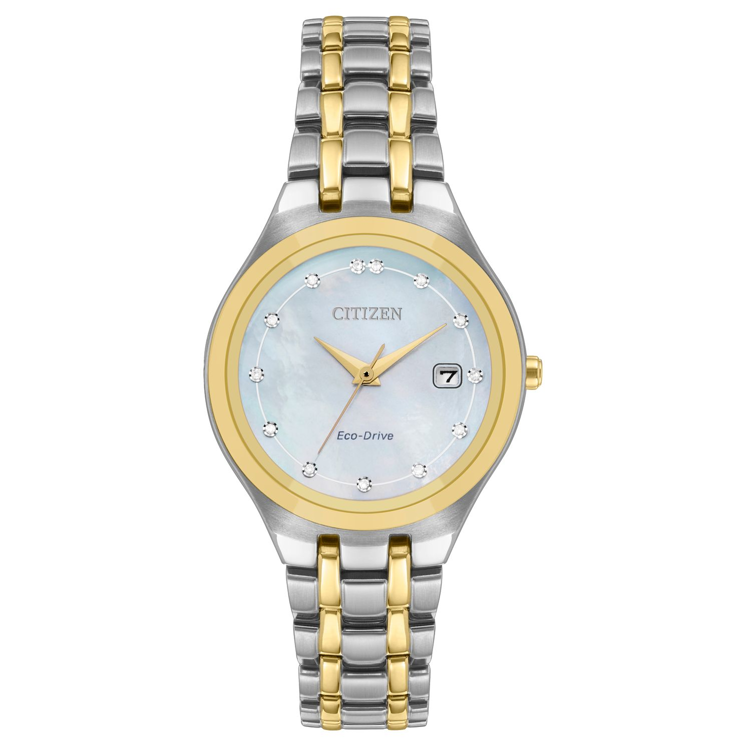 Citizen Silhouette Two-Tone Ladies' Eco-Drive Bracelet Watch - Product number 1098500