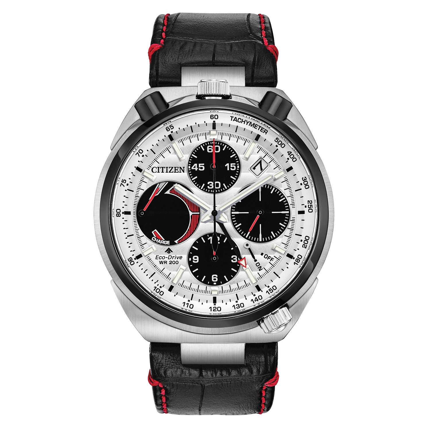 Citizen Men's Eco-Drive Tsuno Chronograph Black Strap Watch - Product number 1098543