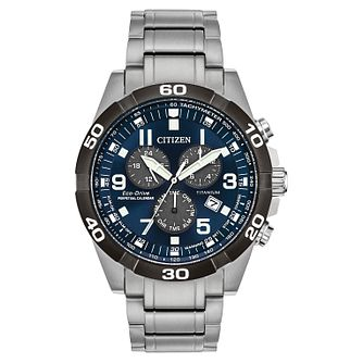 Citizen Perpetual Men's Eco-Drive Chronograph Bracelet Watch - Product number 1098624
