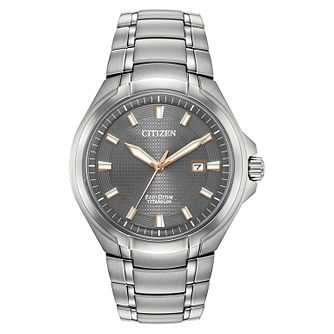 Citizen Eco-Drive Paradigm Men's Titanium Bracelet Watch - Product number 1098632