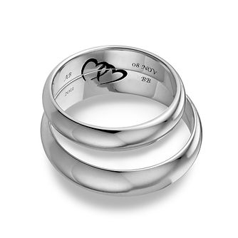 Commitment 9ct White Gold Ring Set - Product number 1101439