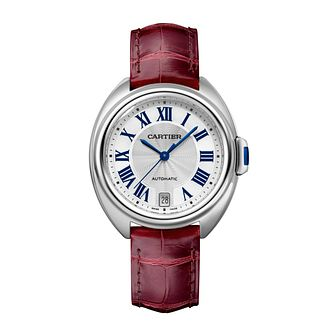 Cartier Cle De Cartier Ladies' Red Leather Strap Watch - Product number 1104276