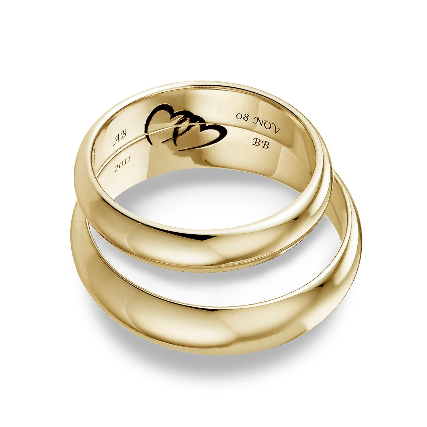 Commitment 9ct Yellow Gold Ring Set - Product number 1108735