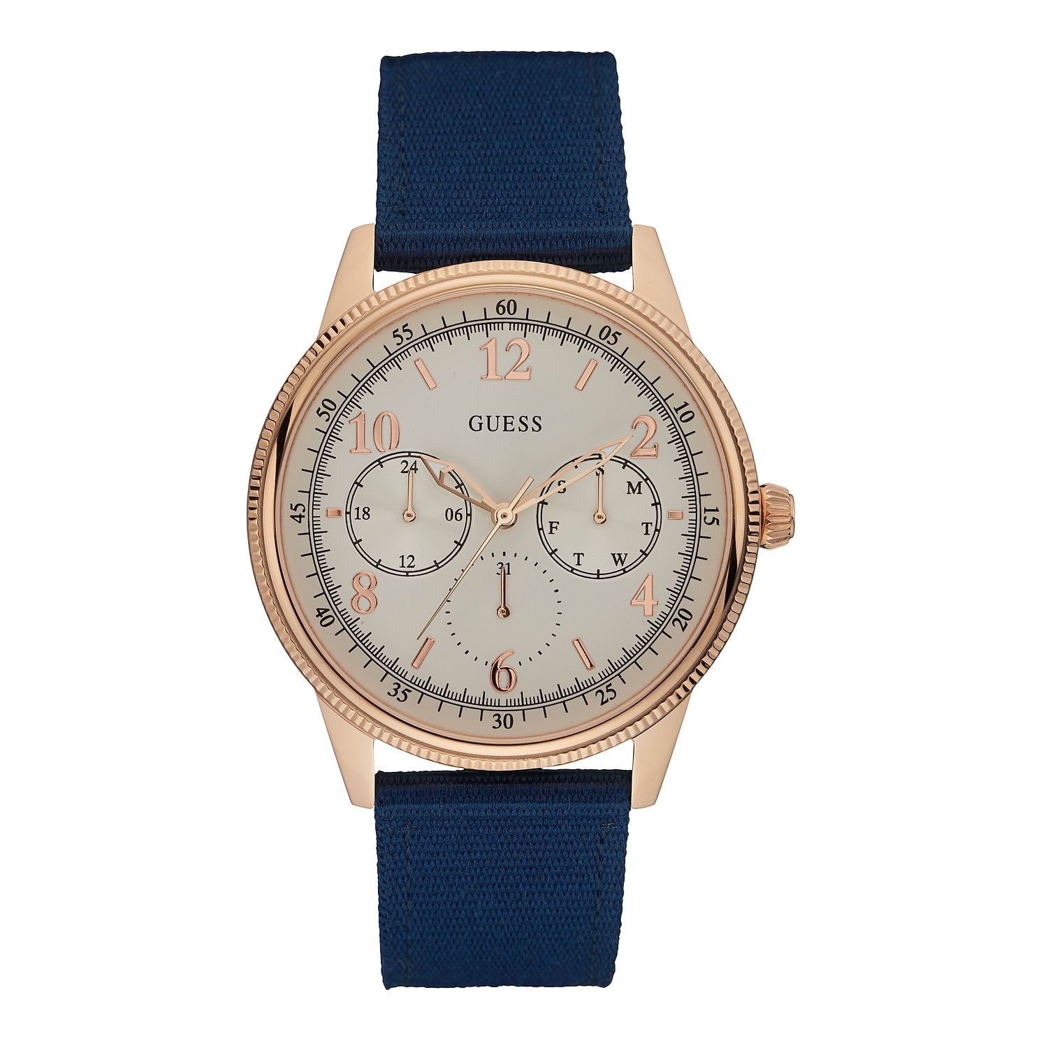 Guess Ladies' Blue Nylon Strap Watch - Product number 1111647