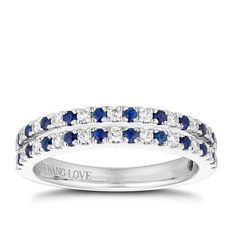 Vera Wang 18ct White Gold 0.23ct Diamond & Sapphire Ring - Product number 1112856