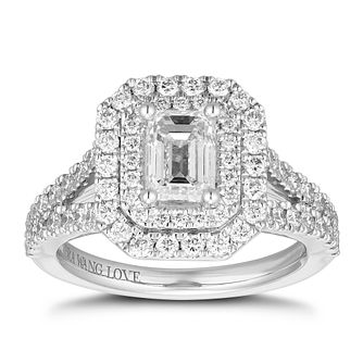 Vera Wang 18ct White Gold 1.95ct Diamond Emerald Cut Ring - Product number 1113003