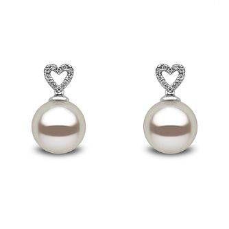 Yoko London 18ct white gold South Sea pearl diamond earrings - Product number 1113518