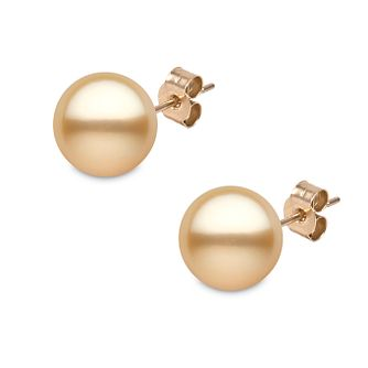 Yoko London golden South Sea pearl stud earrings - Product number 1113593