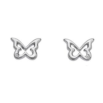 Hot Diamonds sterling silver butterfly stud earrings - Product number 1113852
