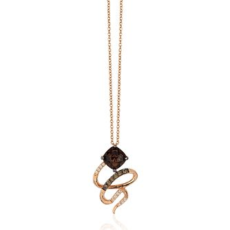 Le Vian 14ct Strawberry Gold Quartz Choc Diamond Pendant - Product number 1114654