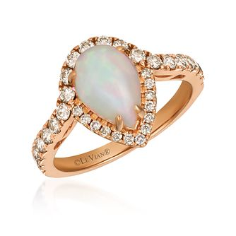 Le Vian 14ct Strawberry Gold Neopolitan Opal Diamond Ring - Product number 1114662