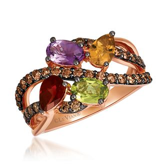 Le Vian 14ct Strawberry Gold Multi Stone & Diamond Ring - Product number 1114794