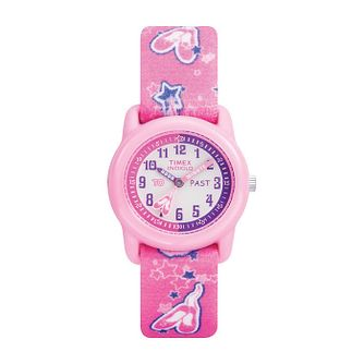Timex Kids Girl's Tutu Ballerina Fabric Strap Watch - Product number 1120662