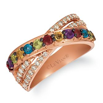 Le Vian 14ct Strawberry Gold Multi Stone & Nude Diamond Ring - Product number 1120808