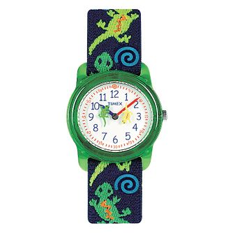 Timex Kidz Children's Gecko Fabric Strap Watch - Product number 1120867