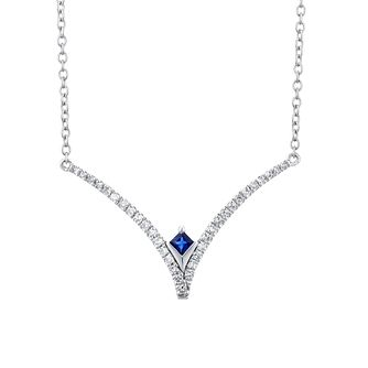 Vera Wang Sterling Silver, Sapphire & Diamond Necklace - Product number 1121111