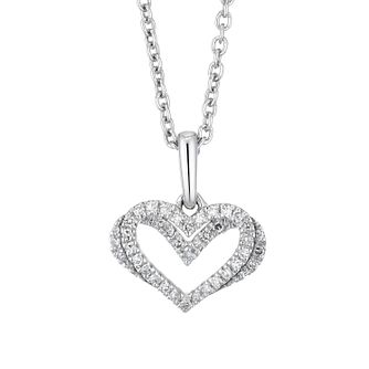 Vera Wang Sterling Silver & Diamond Kindred Heart Pendant - Product number 1121189