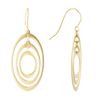 9ct Yellow Gold Multi Oval Drop Earrings - Product number 1121634