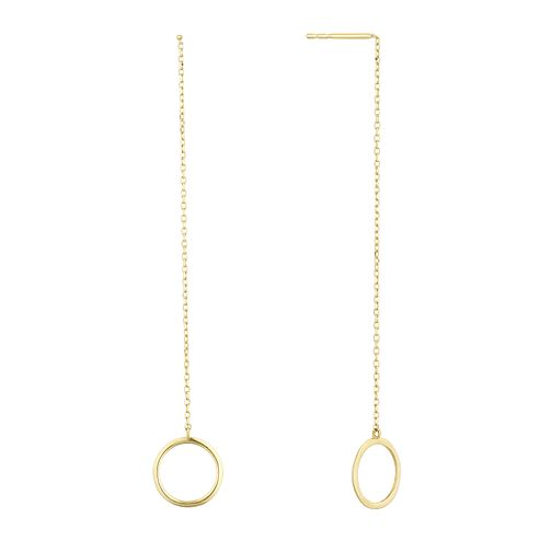 9ct Yellow Gold Eyelet Drop Earrings - Product number 1121715