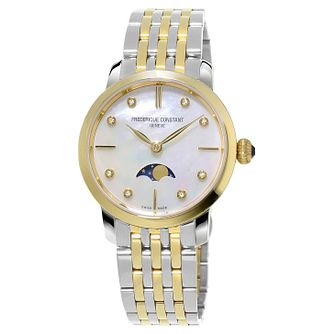 Frederique Constant Slimline Ladies' Two-Tone Bracelet Watch - Product number 1124188