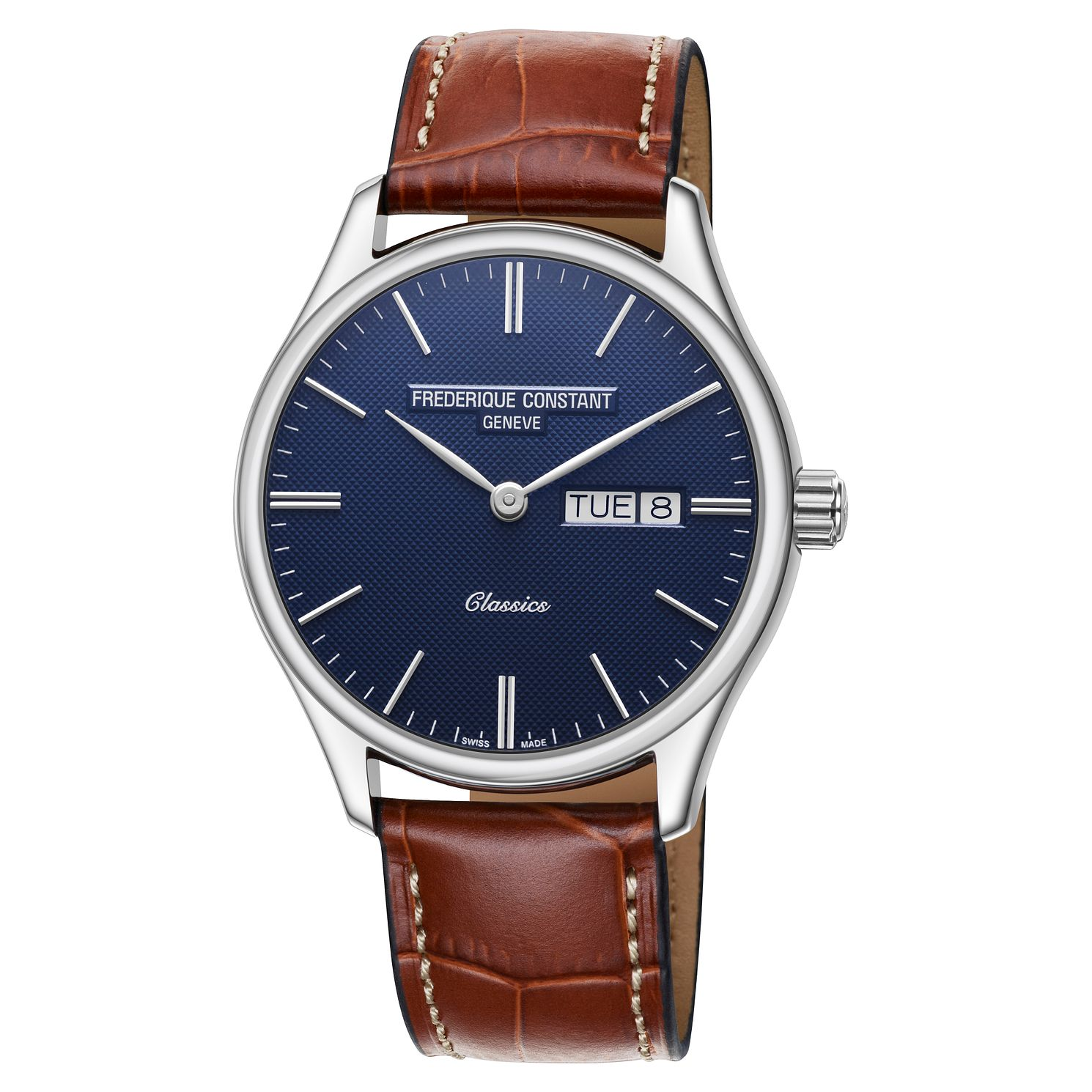 Frederique Constant Classic Men's Brown Leather Strap Watch - Product number 1124196