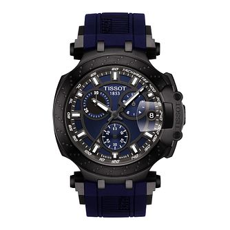 Tissot T-Race Men's Dark Blue Rubber Strap Watch - Product number 1125176