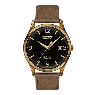 Tissot Visodate Men's Brown Leather Strap Watch - Product number 1125222
