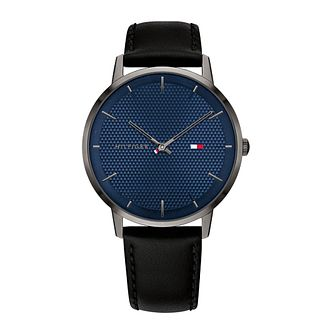 Tommy Hilfiger Men's Black Leather Strap Watch - Product number 1125893