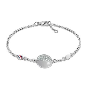 Tommy Hilfiger Crystal Disc Stainless Steel Bracelet - Product number 1125923