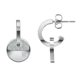 Tommy Hilfiger Crystal Disc Stainless Steel Stud Earrings - Product number 1125931