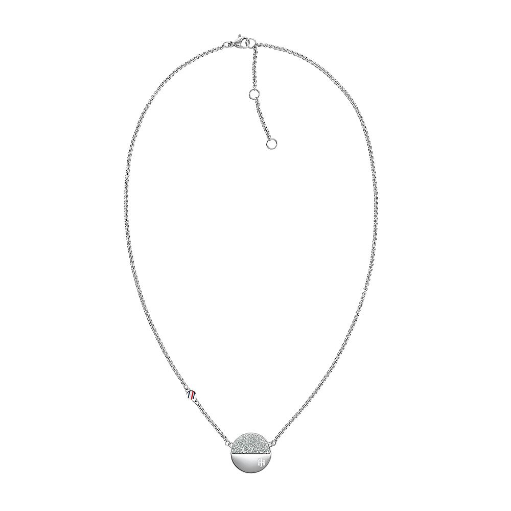 Tommy Hilfiger Crystal Disc Stainless Steel Pendant - Product number 1125958