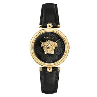 Versace Palazzo Ladies' Black Leather Strap Watch - Product number 1127586