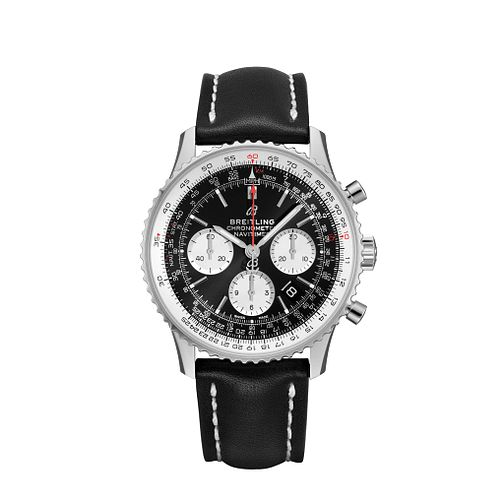 Breitling Navitimer B01 Chrono 43 Men's Black Strap Watch - Product number 1128612
