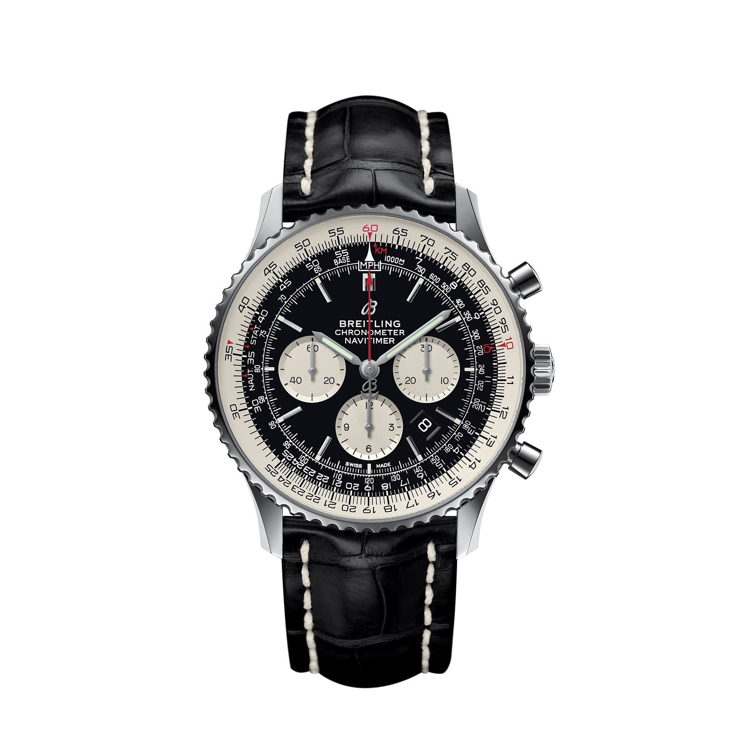 Breitling Navitimer B01 Chrono 46 Men's Black Strap Watch - Product number 1128671