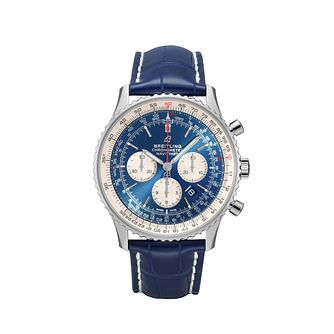 Breitling Navitimer B01 Chrono 46 Men's Blue Strap Watch - Product number 1128698