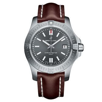 Breitling Men's Colt 41 Brown Leather Strap Watch - Product number 1128760