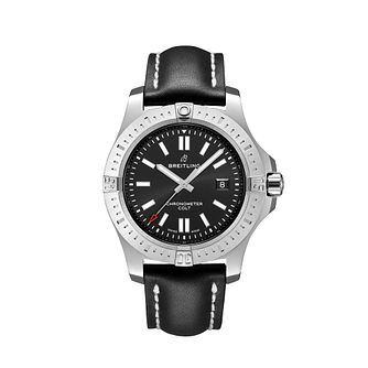 Breitling Men's Colt 44 Black Leather Strap Watch - Product number 1128787