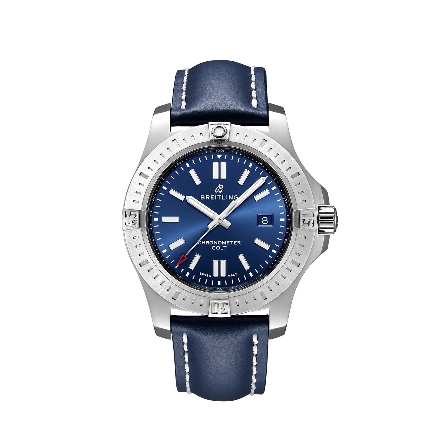Breitling Men's Colt 44 Blue Leather Strap Watch - Product number 1128795