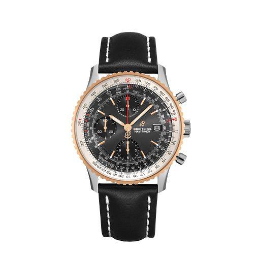 Breitling Navitimer B01 Chrono 41 Men's Leather Strap Watch - Product number 1128973